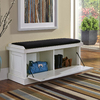 Home Styles Nantucket Distressed White Indoor Storage Bench