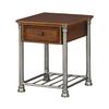 Home Styles Orleans Vintage Caramel/Gun Metal Gray Poplar Rectangular End Table