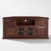 Crosley Furniture Vintage Mahogany Corner Corner Television Stand