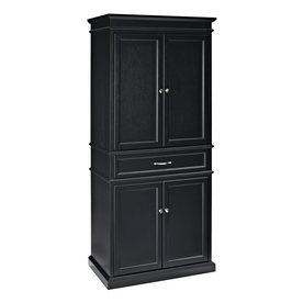 Shop Crosley Furniture 33 In W X 72 In H X 19 In D Black Pantry Cabinet At