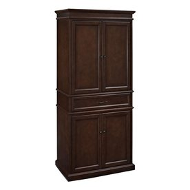 Shop Crosley Furniture Parsons 33 In W X 72 In H X 19 In D Finished Mahogany Pantry Kitchen Wall