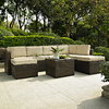 Crosley Furniture Palm Harbor 8-Piece Wicker Patio Conversation Set