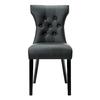 Modway 1 Silhouette Black Vinyl Side Chair