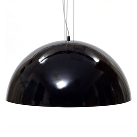 flow 23 5 in w gloss black plug in pendant light with textured shade. Black Bedroom Furniture Sets. Home Design Ideas