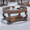 Coaster Fine Furniture Doyle Brown Oval Coffee Table