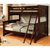 Furniture of America Spring Creek Dark Walnut Twin Over Full Bunk Bed