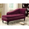 Furniture of America Lakeport Colonial Red Synthetic Chaise