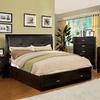 Furniture of America Enrico Espresso Queen Platform Bed with Storage