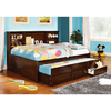 Furniture of America Hardin Cherry Full Platform Bed with Storage and Trundle