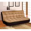 Furniture of America Mancora Camel/Black Futon