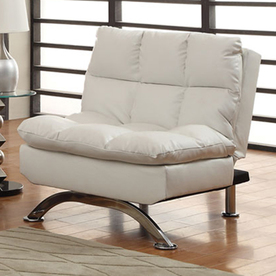 Shop Furniture of America Aristo White Futon at Lowes