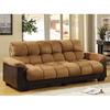 Furniture of America Brantford Camel/Espresso Futon