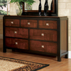 Furniture of America Patra Acacia/Walnut 7-Drawer Dresser