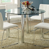 Furniture of America Kona Chrome Round Dining Table