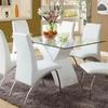 Furniture of America Wailoa White Rectangular Dining Table