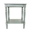 Decor Therapy Simplify Antique Arctic Blue Composite Rectangular End Table