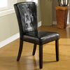 Furniture of America Set of 2 Belleview Dark Walnut Side Chairs