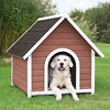 Trixie Pet Products 3.104-ft x 2.937-ft x 3.458-ft Wood Dog House