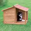 Trixie Pet Products 2.687-ft x 2.937-ft x 3.27-ft Rustic Wood Dog House