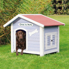 Trixie Pet Products 3.041-ft x 2.937-ft x 3.5-ft Wood Dog House