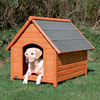 Trixie Pet Products 3.437-ft x 3.145-ft x 3.666-ft Log Cabin Dog House