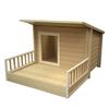 New Age Pet 2.525-ft x 3.508-ft x 4.525-ft EcoFLEX Santa Fe Chalet Dog House