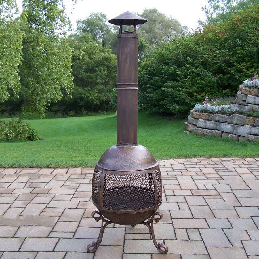 shop oakland living cast iron outdoor wood burning