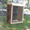 Coveside Conservation Natural Pine 1-Cake Wood Suet Feeder