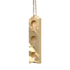 Coveside Conservation Peanut Unfinished Pine 1-Cake Wood Suet Feeder