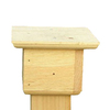 Coveside Conservation 4-In By 4-In Wood Bird Feeder Post Mount