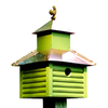 Heartwood 12-in W x 20-in H x 12-in D Pinion Green Bird House