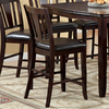 Furniture of America Set of 2 Edgewood Espresso 25-in Counter Stools