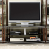 Furniture of America Silver Creek Brown Silver Rectangular Television Cabinet