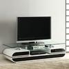 Furniture of America Evos White Black Rectangular Television Cabinet
