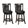 Monarch Specialties Set of 2 Cappuccino 26-in Counter Stools