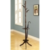 Monarch Specialties Cappuccino 6-Hook Coat Stand