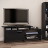 South Shore Furniture Step One Pure Black Rectangular Television Stand