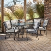 Hanover Outdoor Furniture Lavallette 7-Piece Steel Dining Patio Dining Set