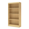 South Shore Furniture Axess Natural Maple 30.75-in W x 58-in H x 11.5-in D 4-Shelf Bookcase