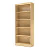South Shore Furniture Axess Natural Maple 30.75-in W x 71.25-in H x 11.5-in D 5-Shelf Bookcase