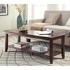 Convenience Concepts American Heritage Espresso Birch Rectangular Coffee Table