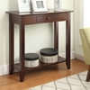 Convenience Concepts American Heritage Espresso Rectangular Console and Sofa Table