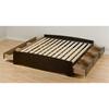 Prepac Furniture Mate's Espresso King Platform Bed with Storage
