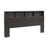 Prepac Furniture District Washed Black King Headboard