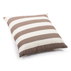 Zuo Modern Pony Beige/Brown Stripe Square Throw Outdoor Decorative Pillow