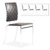 Zuo Modern Set of 4 Criss Cross Black/Chrome Side Chairs