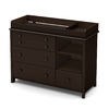 South Shore Furniture 47.25-in W Espresso Surface-Mount Changing Table
