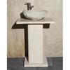 Allstone 28-in H White Sands Pedestal Sink Base