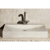 Allstone Geometric Crema Marfil Stone Vessel Rectangular Bathroom Sink