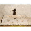 Allstone Geometric Sandstorm Marble Vessel Rectangular Bathroom Sink